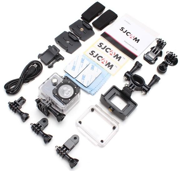 Ez található a csomagban: az SJ4000 Wifi kamera alaptartozékai