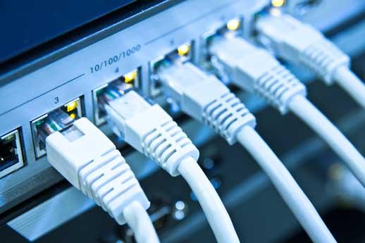 Strukturált hálózat - Switch - Cat5e - Cat6a