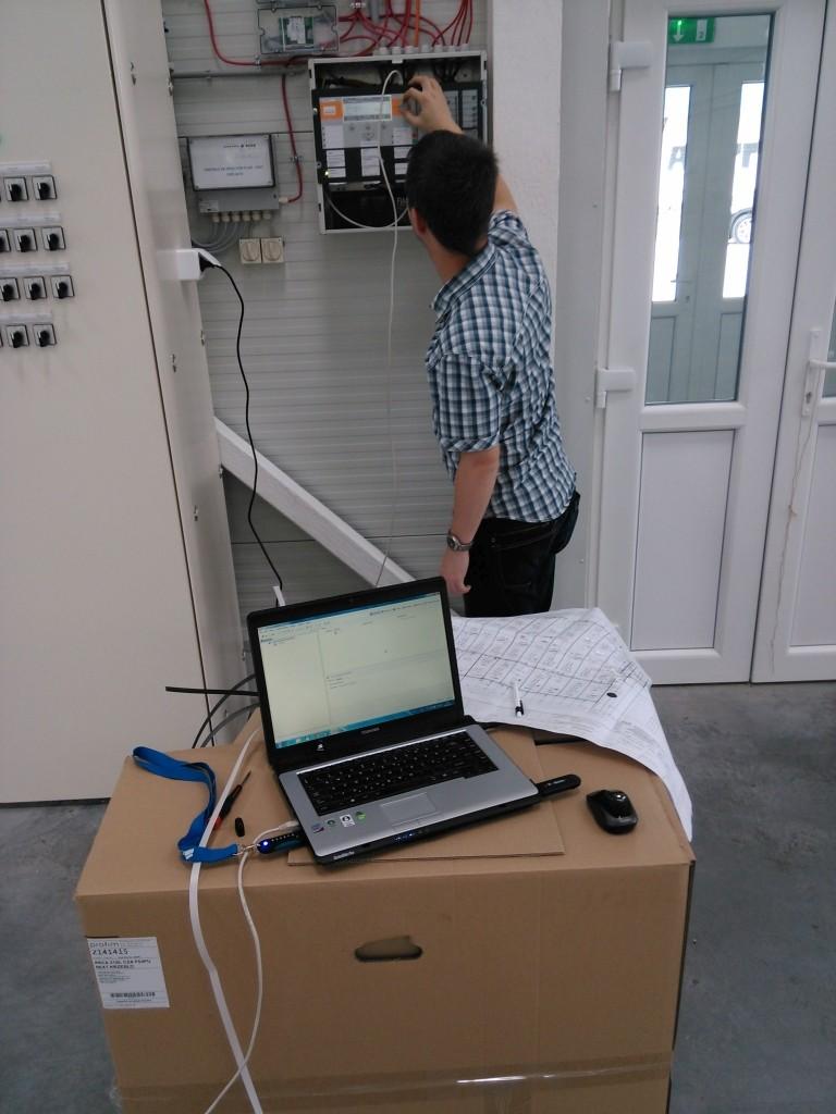 Siemens Cerberus tűzjelző rendszer beüzemelése