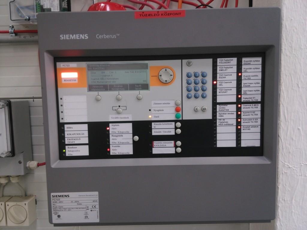 Siemens Cerberus tűzjelző központ